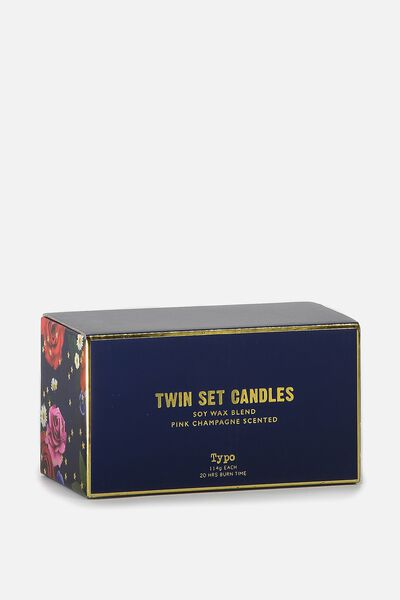 Twin Set Candles, GOLD & BLUE