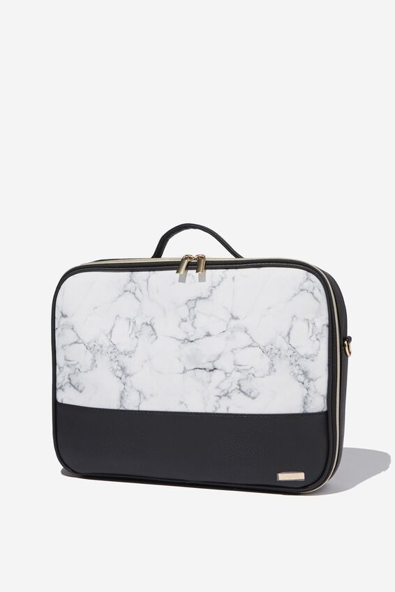 Mobile Laptop Folio, WHITE MARBLE