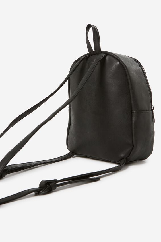 Mini Cairo Backpack, BLACK WITH LILAC CHAIN