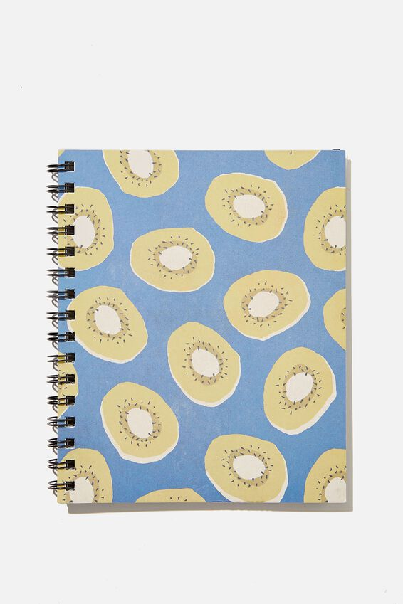 A5 Campus Notebook Recycled, RG NZ KIWI BLUE YELLOW