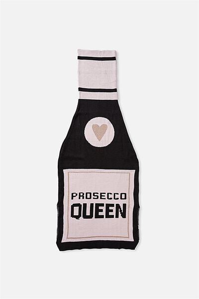 Novelty Throw Blanket, PROSECCO