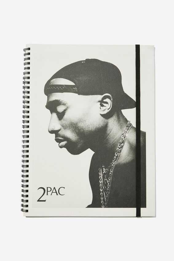 College Ruled Spinout Notebook V, LCN BRA 2PAC COVER