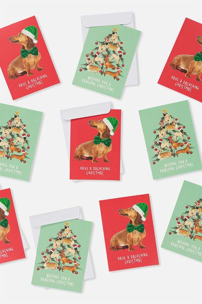 2018 Christmas Card 10 Pk, CHRISTMAS DOGS