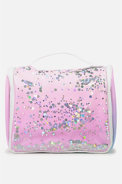 Hanging Cosmetic Bag, OMBRE GLITTER
