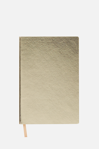 A5 Soft Cover Buffalo Journal - 176 Pages, GOLD METALLIC