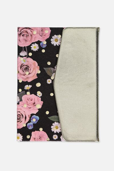A5 Magnetic Close Journal, POLKA FLORAL