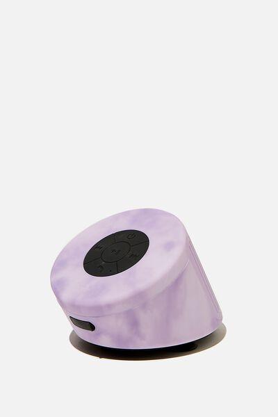 Wireless Shower Speaker, PREMIUM A.T. SPACEY TIE DYE LILAC