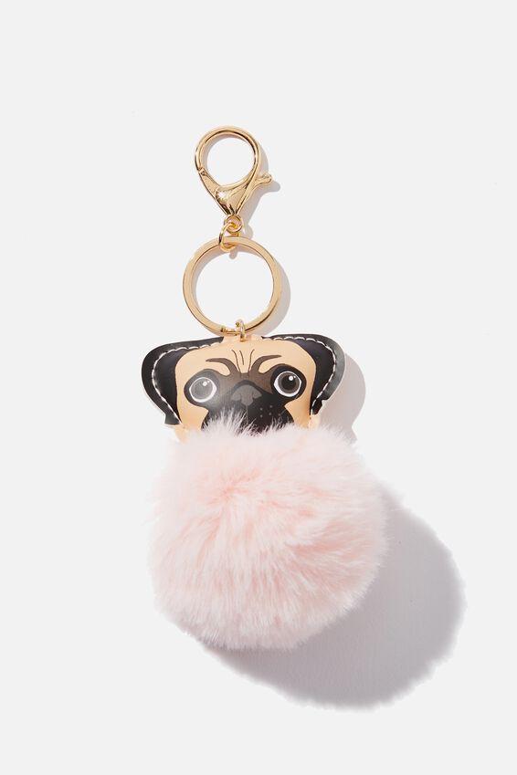 Bag Charm, PUG FACE