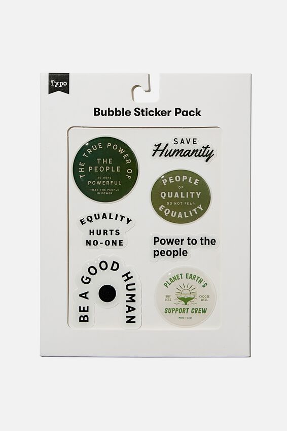 Bubble Sticker Pack, BE A GOOD HUMAN