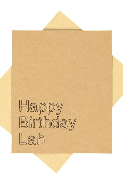 Nice Birthday Card, BIRTHDAY LAH CRAFT