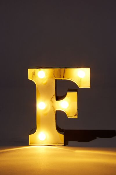Mini Marquee Letter Lights 3.9inch, MARBLE F
