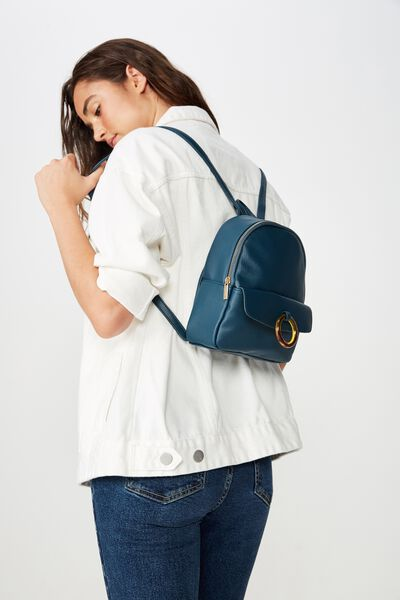Mini Cairo Backpack, TEAL TORTOISE SHELL