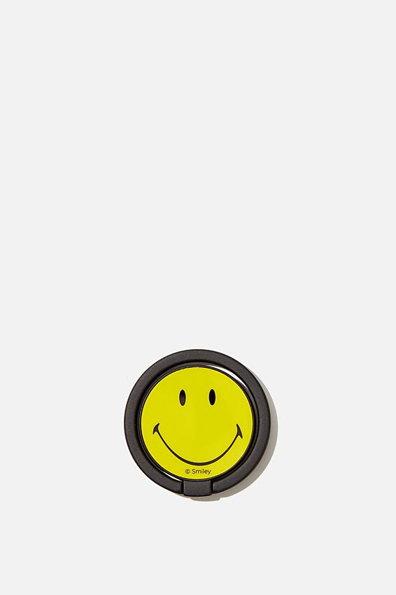 Smiley Metal Phone Ring, LCN SMI SMILEY FACE