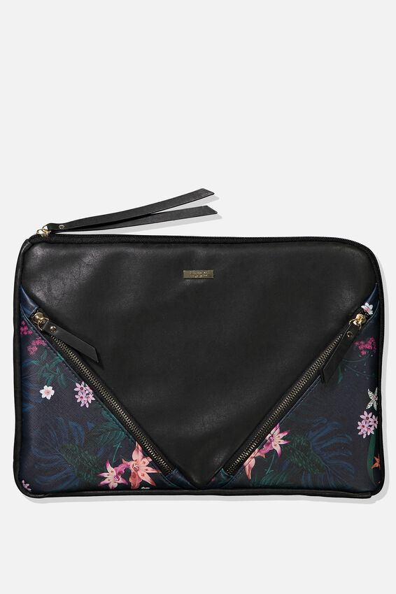 "Premium Laptop Case 13"", JUNGLE FLORAL"