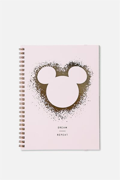 A5 Spinout Notebook - 120 Pages, LCN MICKEY FOIL SPRAY HEAD