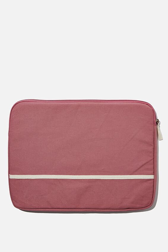 Canvas 15 Inch Laptop Case, DUSTY ROSE