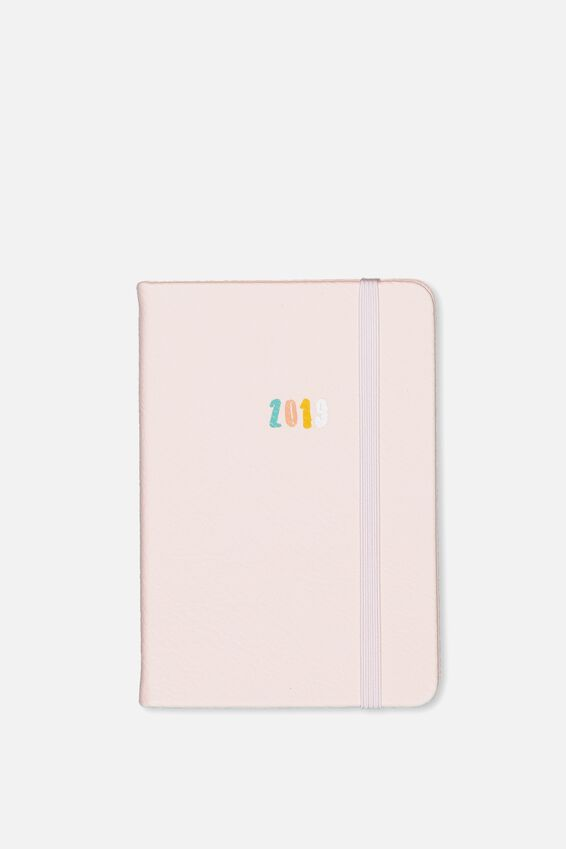 2019 A6 Weekly Buffalo Diary, BLUSH PINK