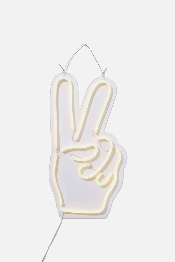 Large Led Wall Light, PEACE HAND