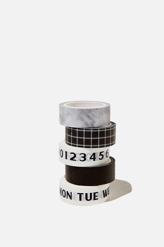 Washi Tape 5Pk, DAYS OF THE WEEK