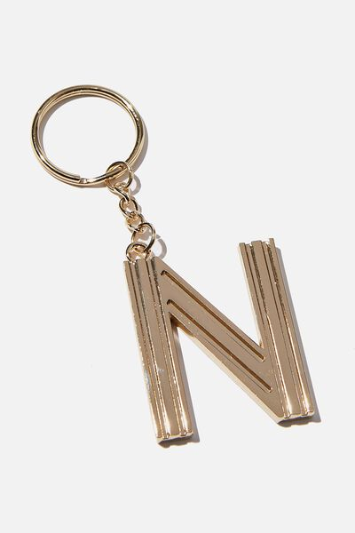 Alphabet Keyring, GOLD GRID N