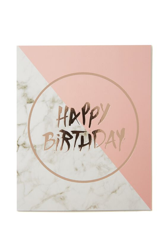 Nice Birthday Card, MARBLE BIRTHDAY
