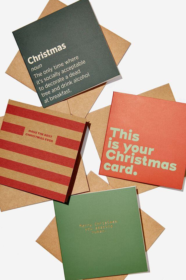 Christmas Card 20 Pack, TRADITIONAL CHRISTMAS