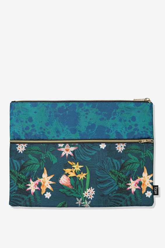 Big Bro Pencil Case, JUNGLE FLORAL