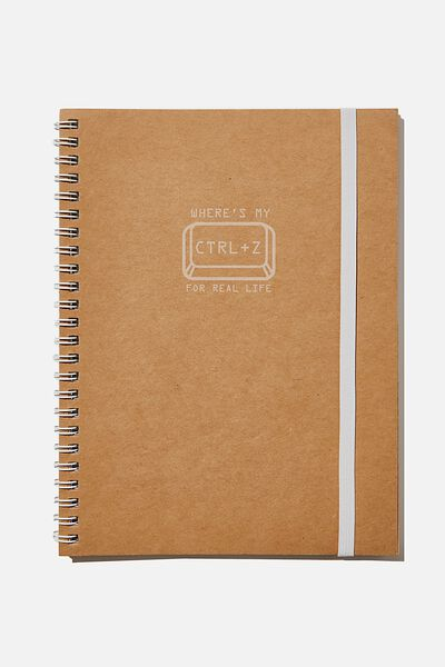 A5 Spinout Notebook Recycled, CTRL Z
