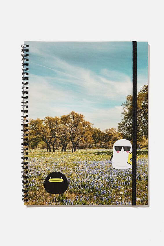A4 Spinout Notebook Recycled, LCN IRVINS PHOTO LANDSCAPE