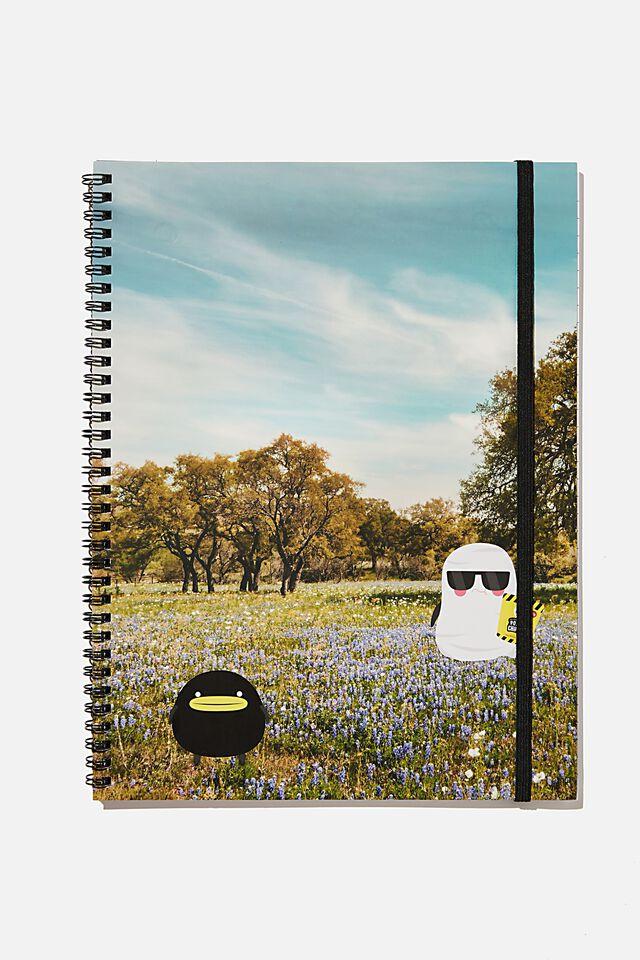A4 Irvins Spinout Notebook Recycled, LCN IRVINS PHOTO LANDSCAPE