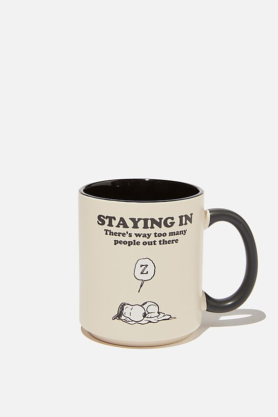 Snoopy Daily Mug, LCN PEA SNOOPY STAY IN