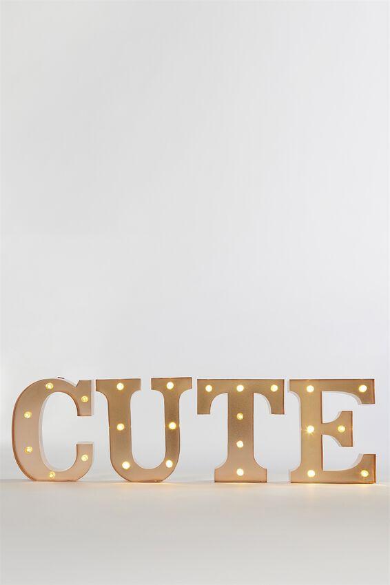 Marquee Letter Lights Premium 16cm Midi, ROSE GOLD T