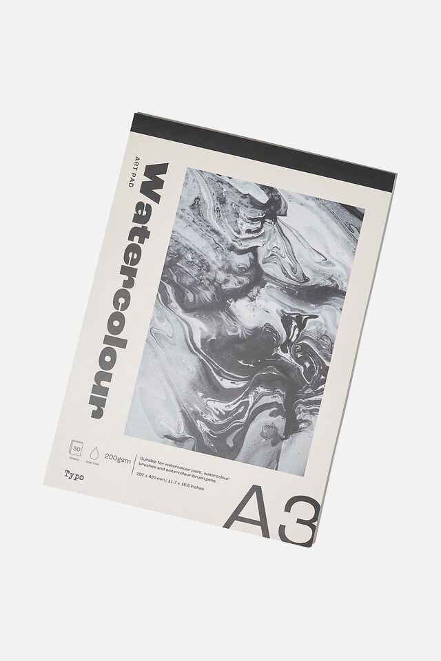 The A3 Art Pad, WATERCOLOUR