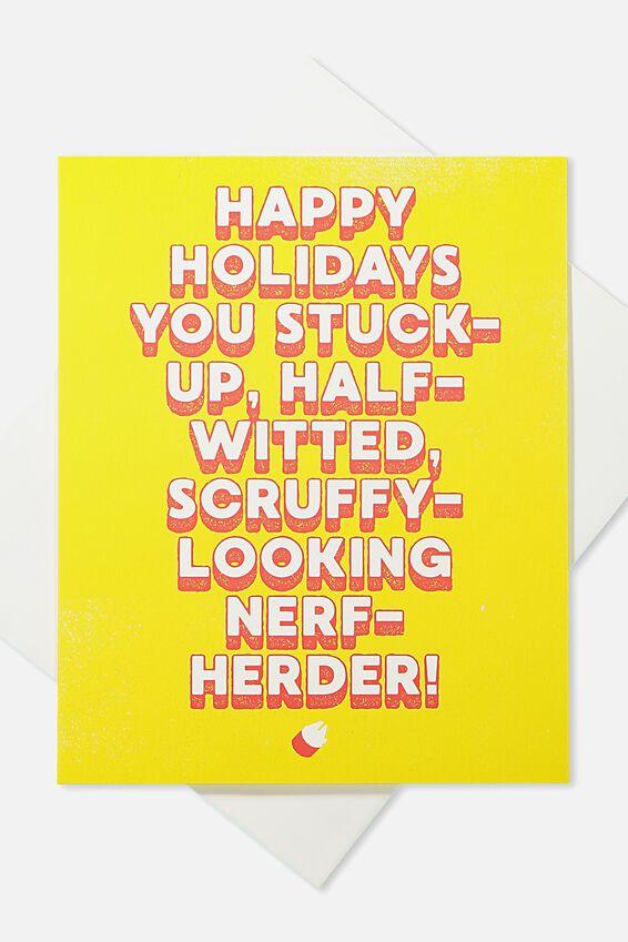 2018 Christmas Card, LCN HAPPY HOLIDAYS NERF HERDER