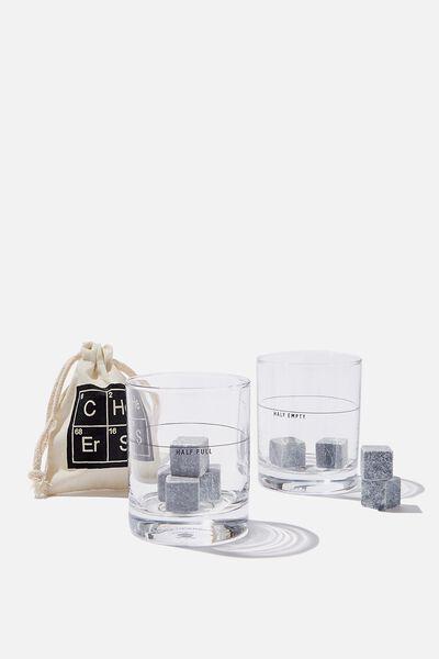 Whiskey Set, STRAIGHT GLASS HALF FULL!