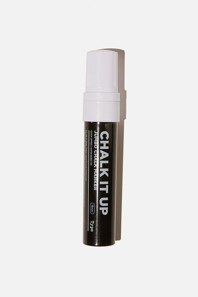 Chalk It Up Jumbo Chalk Marker, WHITE