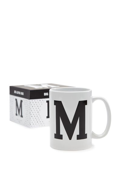 Big Alphabet Mug, BLACK M