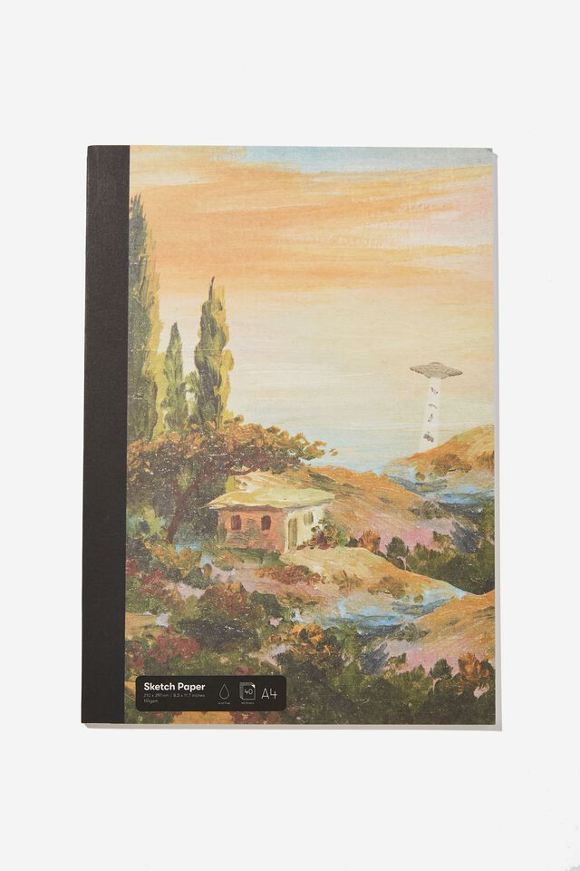 A4 Sketch Mate Book, UFO PAINTING