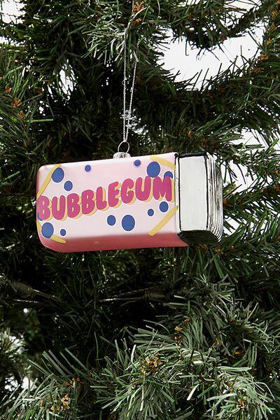 Glass Christmas Ornament, BUBBLEGUM