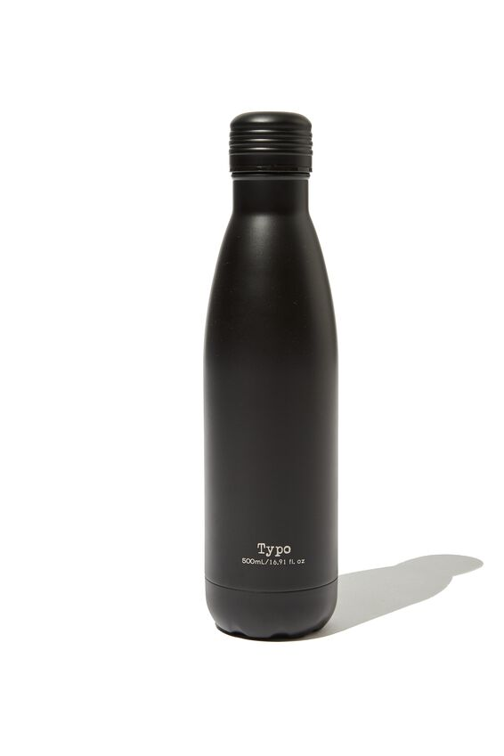 Metal Drink Bottle, BLACK BARCODE