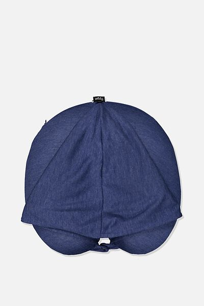 Hooded Travel Neck Pillow, NAVY
