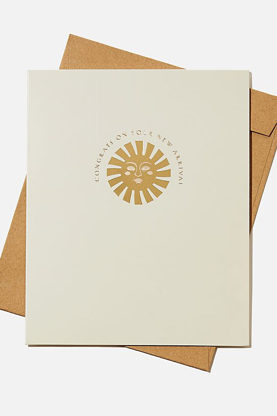 Baby Card, NEW ARRIVAL SUN