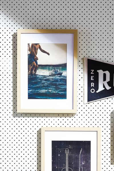 A4 Framed Print, SURFS UP