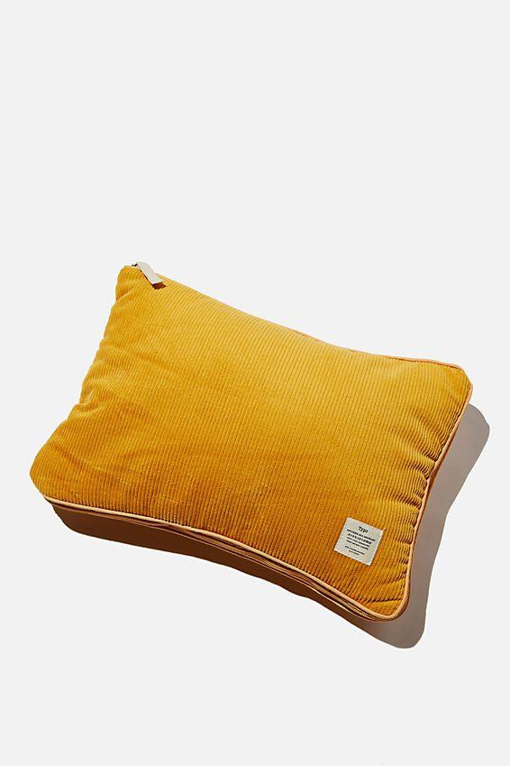 Convertible Cushion Throw, MUSTARD F#$K YEAH!!