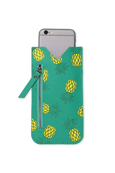 Novelty Phone Pouch, PINEAPPLE
