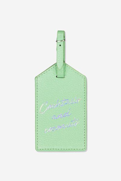 Luggage Tag, COCKTAILS AND COCONUTS