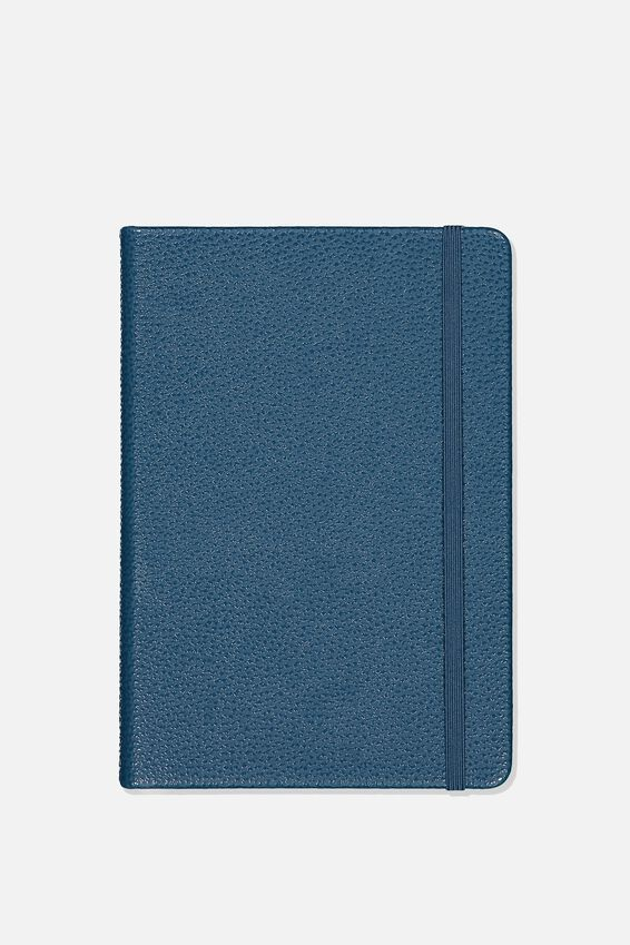 A5 Buffalo Journal Grid Internal, NAVY