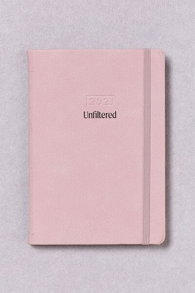 Personalised A5 Weekly Buffalo Diary, HEATHER SUEDE