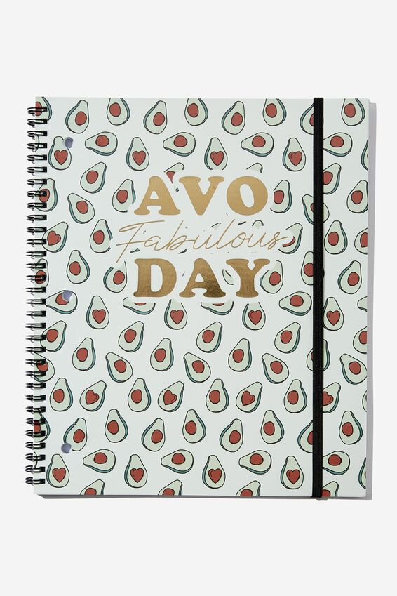 College Ruled Spinout Notebook V, AVO FABULOUS DAY