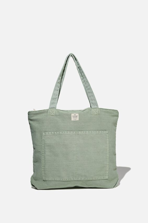 The Daily Tote Bag, WASHED GUM LEAF